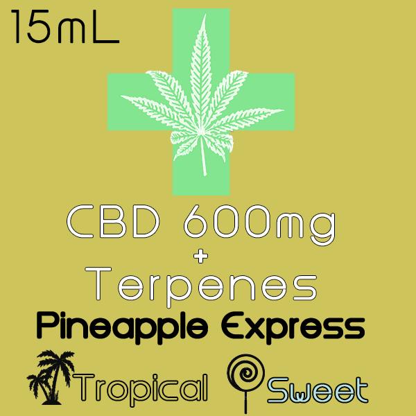 CBD Pineapple Express Display Label 600mg