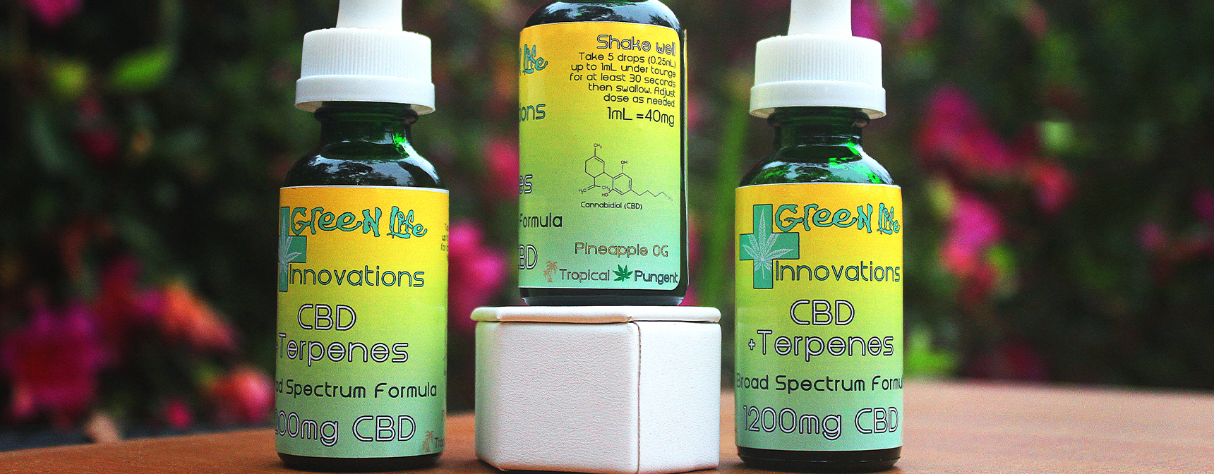 CBD Vials from Green Life Innovations in Gainesville